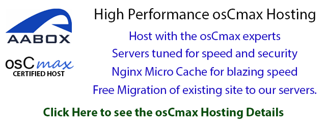 High performance osCmax Web Hosting plan